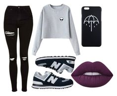 """""""Black #9"""" by susanamarques16 ❤ liked on Polyvore featuring Chicnova Fashion, Topshop, New Balance and Lime Crime"""