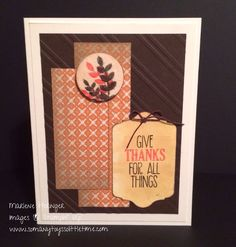 So Many Toys So Little Time...Stampin' Up! For All Things, Everyday Enchantment, Thanksgiving