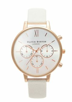 Olivia Burton Chrono Detail Watch - Rose Gold & Mink