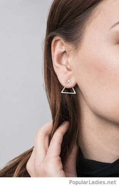 Sweet triangle earring design