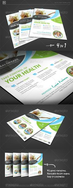 Health Care Solution Business Flyer #GraphicRiver [ Health Medical Care vol.02- Corporate Flyer] A4(21.0×29.7cm) + 6mm Bleed, CMYK Print Ready. Fully Layered Photoshop PSD CS2 or higher – 300DPI (resizable/increasable) 4 designs in 1 package Easy to customize and Change Color Excellent for your multipurpose corporate usage. Font used: Open sans,Aleo,Christopher Hand Logo shapes included. Exclusive on Graphicriver Only. Preview images/photos are not included, for illustration only. Click…