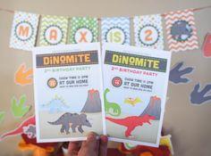 Invites from a Dinosaur Party #dinosaur #partyinvites