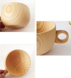 Cedar Wood Drinking Mug Tea cofffee Cups Water Milk Cup Wooden just $11USD