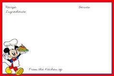 4X6 Recipe Card Template | Disney Recipe Cards