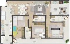 Apartamento para Venda, Praia Grande / SP, bairro Canto do Forte, 3 dormitórios, 2 suítes, 3 banheiros, 2 garagens