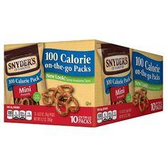 Snyder's Of Hanover 100 Calorie Pretzels - Mini - Pretzel Bakery, Pretzel Snacks, Pretzel Brands, Snyder's Of Hanover, Baking Packaging, Bite Size Snacks, Oatmeal Cream, On The Go Snacks
