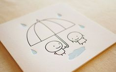 Rain / Letterpress Card