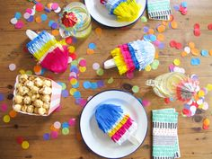 Mini Ice cream piñatas // Party favors DIY