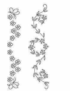 Irresistible Embroidery Patterns, Designs and Ideas. Awe Inspiring Irresistible Embroidery Patterns, Designs and Ideas. Bordados Tambour, Tambour Embroidery, Baby Embroidery, Flower Embroidery Designs, Embroidery Patterns Free, Vintage Embroidery, Ribbon Embroidery, Floral Embroidery, Embroidery Stitches