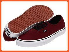 Unisex Authentic Solid Canvas Skateboard Sneakers (36.5 M EU / 6.5 B(M) US Women / 5 D(M) US Men PORT ROYALE/BLACK)