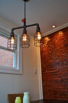 Deckenleuchte  Metall  Light Bar  Handmade von WestNinthVintage
