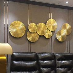 Modern Wrought Iron Lotus Leaf Wall Hanging Crafts Wall Decoration Livingroom Sofa Background Wall Sticker Mural Ornaments Art| | - AliExpress Cheap Wall Stickers, Wall Stickers Murals, Wall Murals, New Chinese, Chinese Style, Wall Hanging Crafts, Wall Art Decor, Wall Accessories, Gold Ornaments