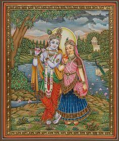 Miniature Paintings - Radha Krishna