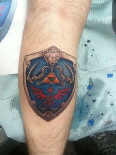 Hylian shield tattoo.
