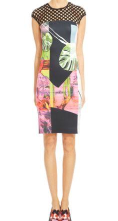 Clover Canyon Painted Garden Lasercut Yoke Dress