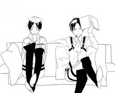Shingeki no Kyojin - Levi and Eren