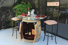 Wine Barrel Table by TheWineKnows on Etsy, $600.00