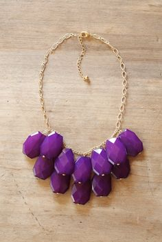 Eggplant Purple Statement Necklace - Bib Necklace. $42.00, via Etsy.