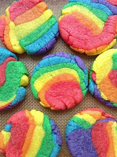 Delightful Rainbow Sugar Cookies - foodista.com