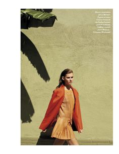 colour revolution: giedre dukauskaite by lydia gorges & jens schmidt for io donna 7th july 2012