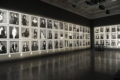 Karl Lagerfeld on the Little Black Jacket Exhibition in NY - Touring photography project by the famed designer from House of Chanel. I Love the way this gallery looks...