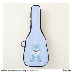Shop Rabbit Acoustic Guitar Bag created by Jollysizer. Create Yourself, Create Your Own, Guitar Bag, Acoustic Guitar, Personalized Gifts, Rabbit, Bags, Shopping, Design