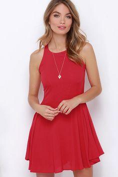 Stories of Sunshine Red Dress at Lulus.com!