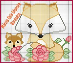 Mini Cross Stitch, Cross Stitch Animals, Cross Stitch Charts, Cross Stitch Patterns, Kids Patterns, Loom Patterns, Crochet Patterns, Embroidery Hoop Art, Cross Stitch Embroidery