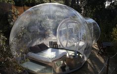 Sleep in a bubble this Summer with a inflatable Bubble Tent. Just inflate the dome tent with the included blower and enter the dome of awesomeness. Tent Camping, Outdoor Camping, Glamping, Camping Resort, Feng Shui, Bubble Tent, Bubble House, Week End En Amoureux, Hotels In France