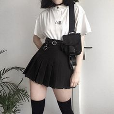 Fashion 2019 New Moda Style - fashion Goth Outfit, Tomboy Outfits, Teen Fashion Outfits, Mode Outfits, Grunge Outfits, Cute Fashion, Casual Outfits, Girl Outfits, 90s Outfit