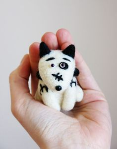 Sparky - dog from the movie FRANKENWEENIE. Felted toy