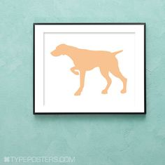 German Short haired Pointer Dog Art Print by TypePosters on Etsy, $15.00