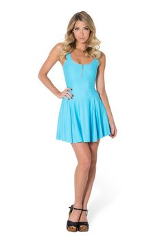 Matte Light Blue Evil Zip Dress by Black Milk Clothing $80AUD ($75USD)