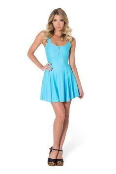 Matte Light Blue Evil Zip Dress by Black Milk Clothing $80AUD ($75USD)