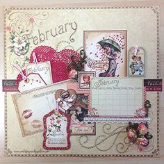 Pinsday: @Graphic 45® Place in Time Calendar // February #readysetlove #graphic45