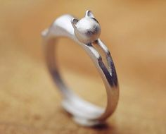 Eternity Love Cat Ring Sterling Silver