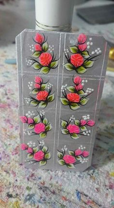 Manicure Y Pedicure, Gel Nails, Ladybug Nails, Hand Embroidery, Embroidery Designs, Nails First, One Stroke Painting, Nailart, Nail Stickers