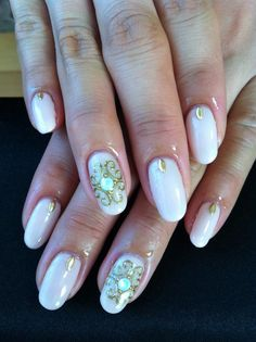 Simple Rococo Style Nails by Ayano | ♥Cute Nail Design♥