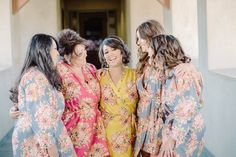 Robes by silkandmore - Mismatched Jewel Toned Floral Posy Bridesmaids Robes, $25 (http://robesbysilkandmore.com/mismatched-jewel-toned-floral-posy-bridesmaids-robes/)