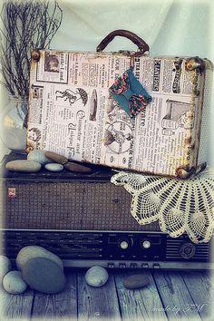 Чемодан - чемодан,чемоданчик,чемодан декупаж,Декупаж,декор для интерьера