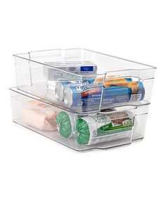 Another great find on #zulily! 15'' x 9'' Clear Refrigerator Organizer - Set of Two #zulilyfinds
