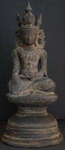 Antique Burmese Bronze Buddha Statues