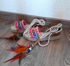 Sandalias de piel , hechas a mano de SolCaleyo en Etsy