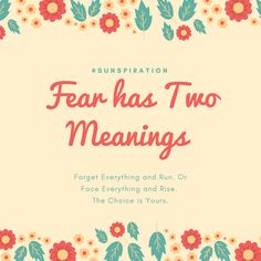 Sunspiration #85: How Does Fear Affect You?