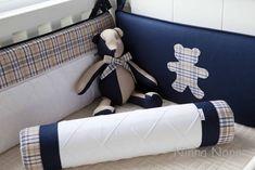 Protetor de Berço FELIPE | Ninna Nanna  - Enxoval de Bebê | 1E227B - Elo7