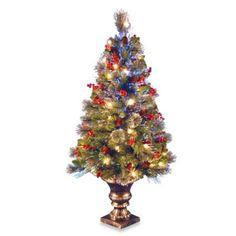 National Tree 48-Inch Fiber Optic Fireworks Crestwood Spruce Christmas Tree - BedBathandBeyond.com