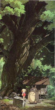 My Neighbor Totoro   Hayao Miyazaki   Studio Ghibli / Kusakabe Mei and Totoro