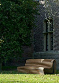 modern garden bench