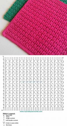 Diy Crafts - Crocheting,Free-New Absolutely Free Crocheting Stitches guide Ideas The particular launch with the Timeless Miffy Amigurumi Crochet Kit Crochet Diagram, Crochet Stitches Patterns, Crochet Chart, Crochet Motif, Crochet Designs, Free Crochet, Stitch Patterns, Knitting Patterns, Crochet Double