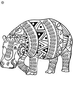 Find This Pin And More On Coloring Hippo Rhino By Barbara